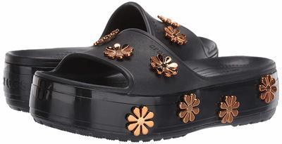 Pantofle METALLIC BLOOMS SLIDE M8/W10 black, Crocs - 2