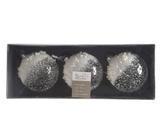 Vánoční ozdoby 3 ks - Koule ICE PEARLS  8 cm - transparentní, Kaemingk - 2/2