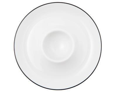 Talířek na vajíčko 12,5cm LIDO BLACK LINE, Seltmann Weiden - 2