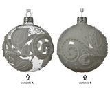 Vánoční ozdoba s listy, 8 cm, transparentní/ šedá, Kaemingk - 2/2