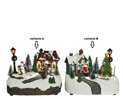 LED dekorace SCENÉRIE, 18,5x13x13,5cm, sněhulák/ santa, Kaemingk - 2