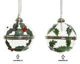 Vánoční ozdoba - otevírací, cca 6cm, červené bobule/ bílé bobule, Kaemingk - 2/2