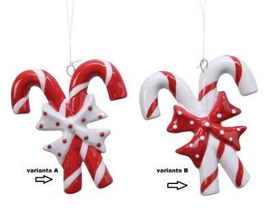 Vánoční ozdoba LÍZÁTKO, 9cm, červené/ bílé, Kaemingk - 2