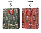 Dárková taška LOUSKÁČEK, 16x42x48cm, zelená/ červená, Kaemingk - 2/2