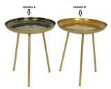Přídavný stolek, 40x40x41cm, černá/ zlatá, Kaemingk - 2/2