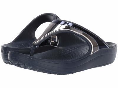 Pantofle SLOANE METALBLOCK FLP W5 multi navy/navy, Crocs - 2