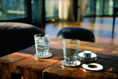 SET 7ks - podložky pod skleničky RINGS, Philippi  - 2