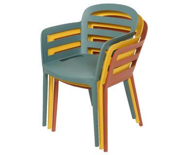 Stohovací židle BOSTON, 56,5x59x81cm, žlutá, venkovní, Kaemingk - 2