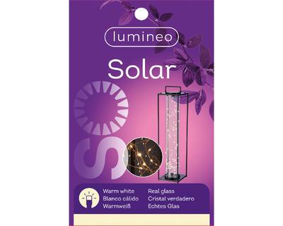 Solární lucerna, 20x20x79cm, černá, Kaemingk - 2