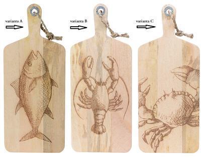 Prkénko, mangové dřevo, 24x58x2,5cm, 3 druhy, Kaemingk - 2