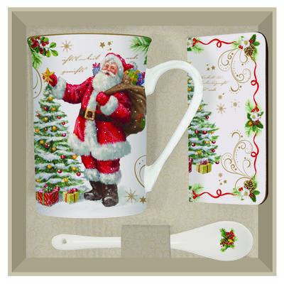 Vánoční set 3ks - Hrnek & lžička & podtácek MAGIC CHRISTMAS 250 ml, Easy Life - 3