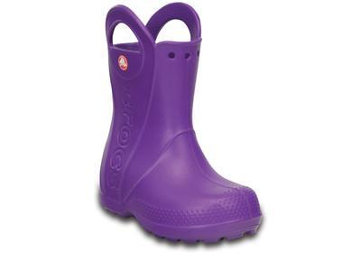 Holínky HANDLE IT RAIN BOOT KIDS J3 neon purple, Crocs - 3