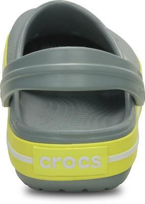 Boty CROCBAND KIDS J2 concrete/chartreuse, Crocs - 3