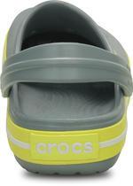 Boty CROCBAND KIDS J2 concrete/chartreuse, Crocs - 3/7