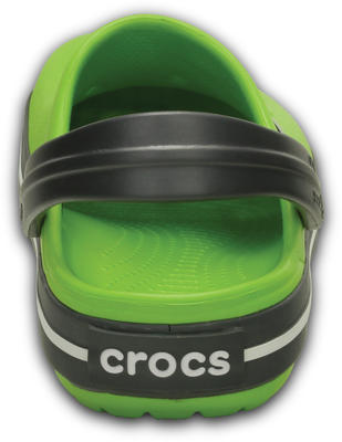 Boty CROCBAND KIDS C6/7 volt green/graphite, Crocs - 3