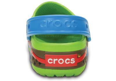 Boty CROCSLIGHTS DINOSAUR CLOG J1 volt green/ocean, Crocs - 3