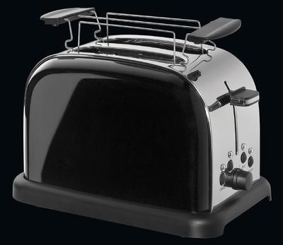 Toaster na dva plátky RETRO - černý, Cilio - 3