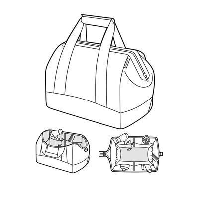 Cestovní taška ALLROUNDER M Graphite, Reisenthel - 3