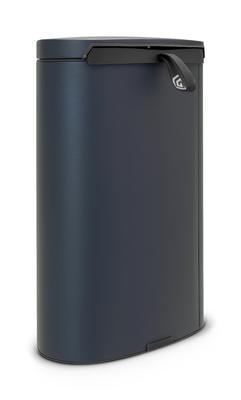 Koš pedálový FLATBACK 40 l - minerální modrá, Brabantia - 3
