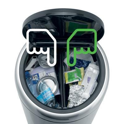 Koš odpadkový RECYCLE 2 x 20 l - matná ocel FPP, Brabantia - 3