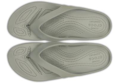 Žabky WOMEN'S KADEE II FLIP W6 silver, Crocs - 3