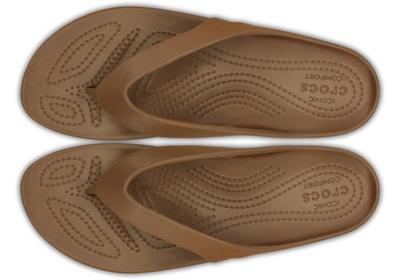 Žabky WOMEN'S KADEE II FLIP W6 bronze, Crocs - 3