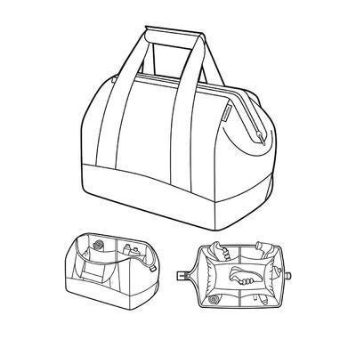 Cestovní taška ALLROUNDER L Fifties Black, Reisenthel - 3