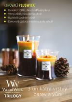 Svíčka 609,5 g Rose, WoodWick - 3/4