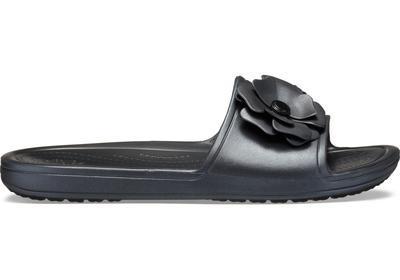 Pantofle SLOANE VIVIDBLOOMS SLD W10 black/black, Crocs - 3