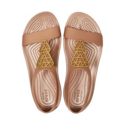 Sandály SERENA EMBELLISH SNDL W6 bronze/bronze, Crocs - 3
