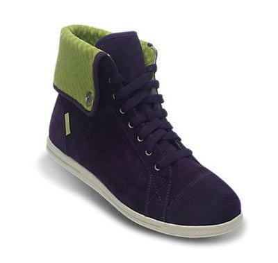 Tenisky LOPRO SUEDE HI-TOP SNEAKER W10 mulberry/green apple, Crocs - 3
