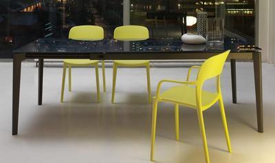 Židle s područkami GIPSY - lime yellow, Bontempi - 3