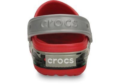 Boty CROCSLIGHTS ROBO SHARK CLOG C10 red/silver, Crocs - 3