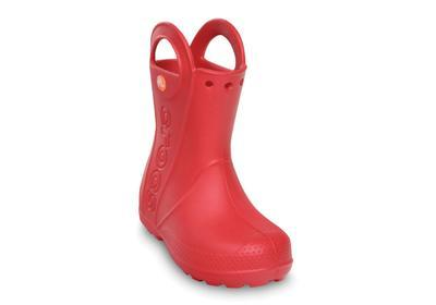 Holínky HANDLE IT RAIN BOOT KIDS J2 red, Crocs - 3