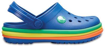 Boty CB RAINBOW BAND CLOG KIDS C11 blue jean, Crocs - 3
