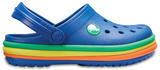 Boty CB RAINBOW BAND CLOG KIDS J1 blue jean, Crocs - 3/3