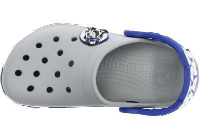 Boty STAR WARS R2D2 CLOG C6/7 light grey/cerulean blue, Crocs - 3