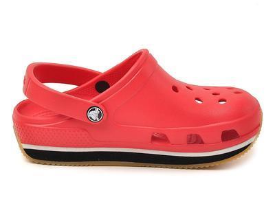 Boty RETRO CLOG KIDS C10/11 red/black, Crocs - 3