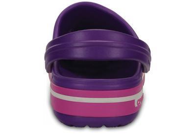 Boty CROCBAND II.5 CLOG KIDS J1 neon purple/neon magenta, Crocs - 3