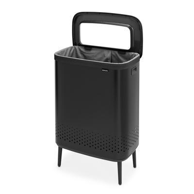 Koš na prádlo BO 2x45l, matná černá, Brabantia    - 3