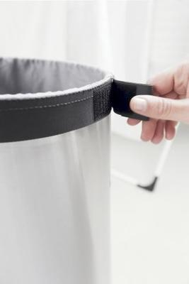 Koš na prádlo 60l, matná ocel, Brabantia - 3