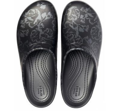 Pantofle SLOANE GRAPHIC CLOG W7 metallic rose/black, Crocs - 3