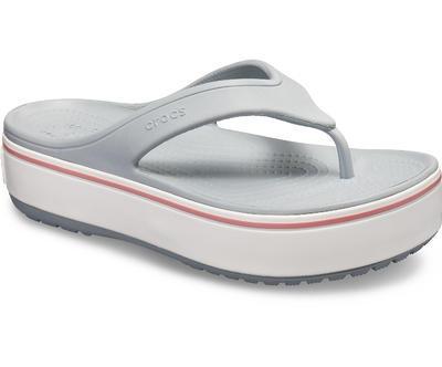 Pantofle CROCBAND PLATFORM FLIP M8/W10 light grey/rose, Crocs - 3