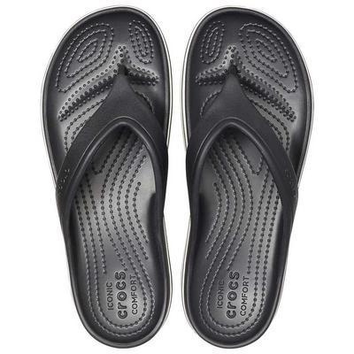 Pantofle CROCBAND PLATFORM FLIP M6/W8 black/white, Crocs - 3