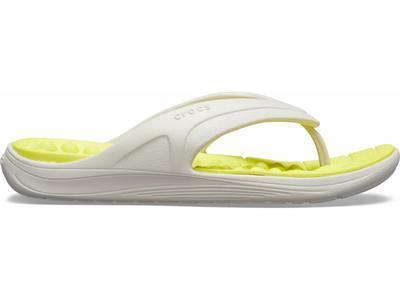 Žabky REVIVA FLIP M13 pearl white/citrus, Crocs - 3