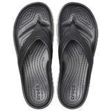 Pantofle CROCBAND PLATFORM FLIP M9/W11 black/white, Crocs - 3/5