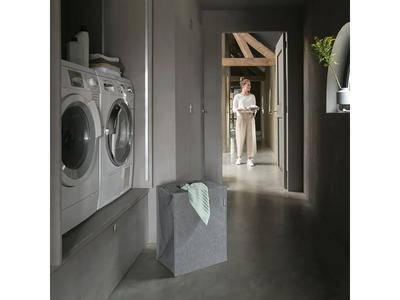 Taška na prádlo 55l, tm. šedý melír, Brabantia     - 3