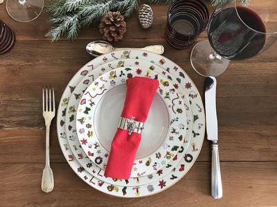 Vánoční talíř polévkový NOEL 22 cm, Taitu - 3