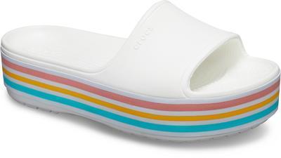 Pantofle CB PLATFORM BLD COLOR SLIDE M9/W11 white, Crocs - 3