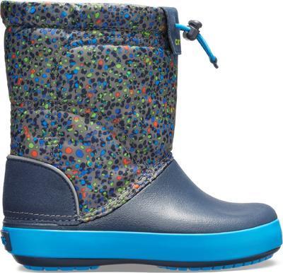 Dětské zimní boty CROCBAND LodgePoint Graphic K - Slate Grey/Navy, vel. 30-31, Crocs - 3